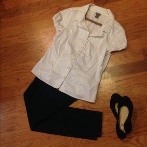 Ann Taylor Short Sleeve Button-down Shirt